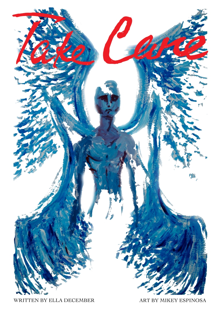 Mikey Espinosa x Ella December - Take care cover (RED)