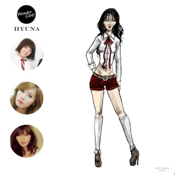 Mikey Espinosa - WonderGirls instagram post - Hyuna