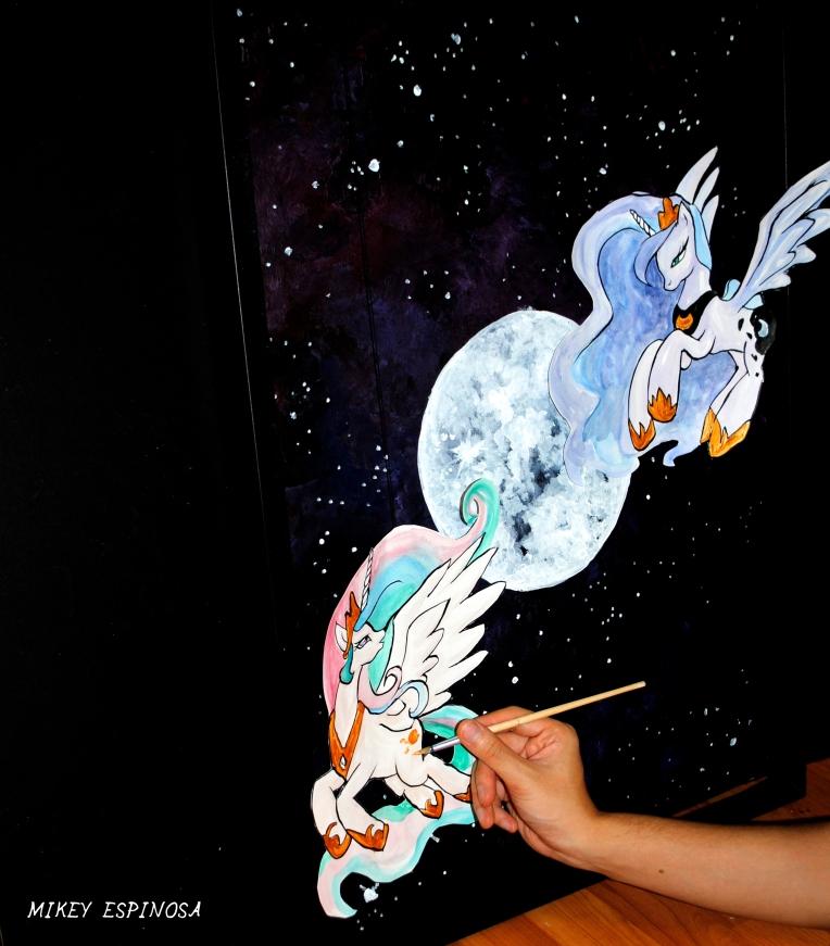 Mikey Espinosa - My Little Pony framed art 2017 October raw 1