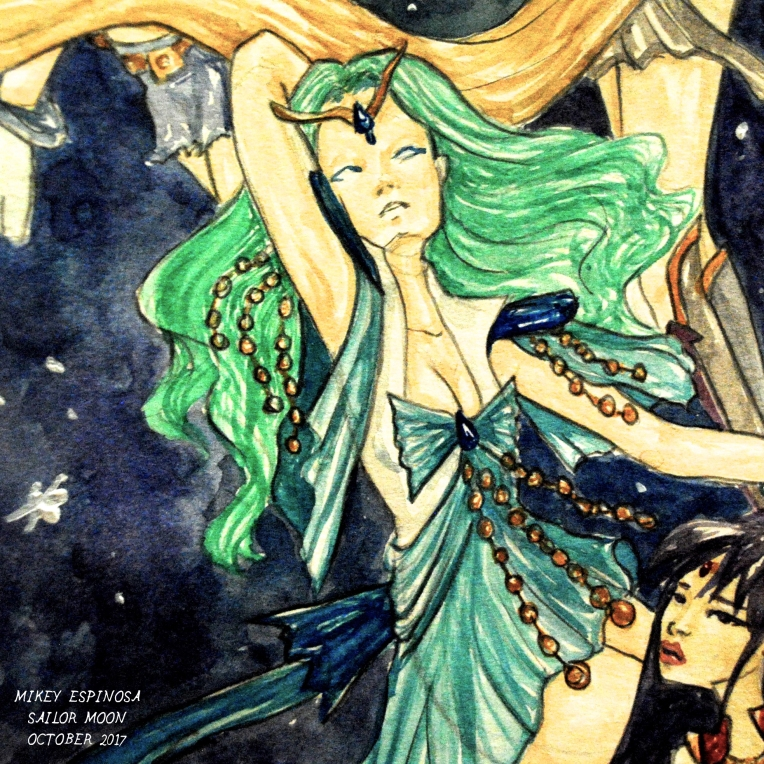 Mikey Espinosa - Sailor Moon redesign - Group painting October 2017 - Sailor Neptune