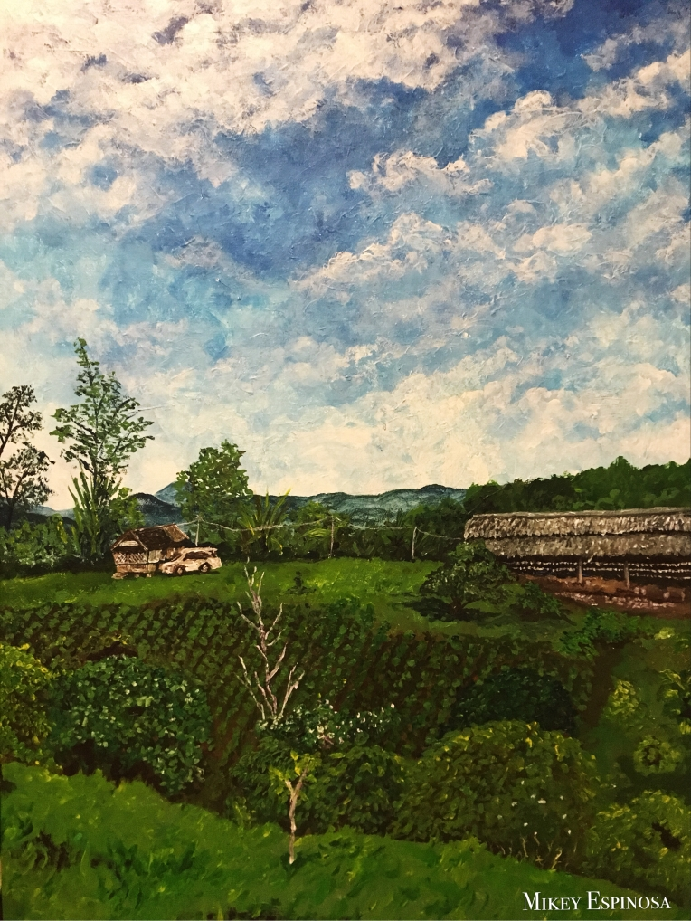 Mikey Espinosa October 2018 - Tita Mirabelle and Tito Jacks farm painting